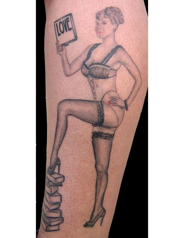 tattoos 0320 pin up girl by farrensquare
