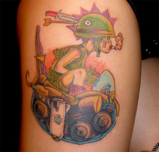 tattoos 0338 Tank Girl by therhapsody3