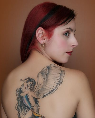 tattoos 0342 Tribarl girl tattoo by reptoid88