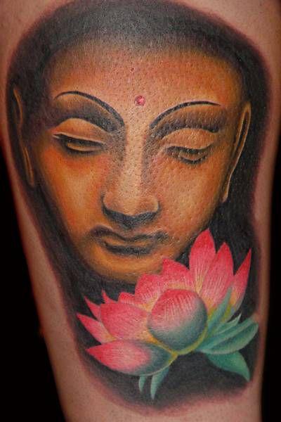 tattoos 0353 Buddha and lotus by brandonbond