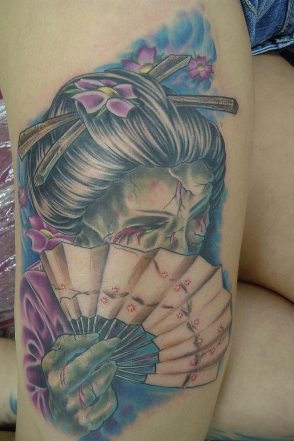 tattoos 0362 geisha by Chad Chase by chadchase