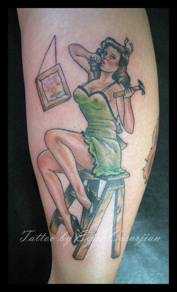 tattoos 0364 hammer pinup by elize