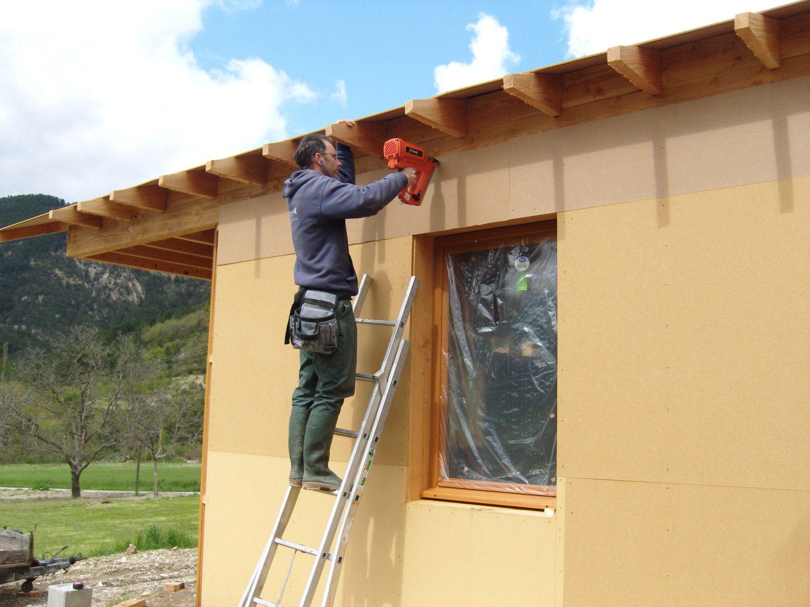 Maison ossature bois et paille en diois le blog de la for Debord toiture