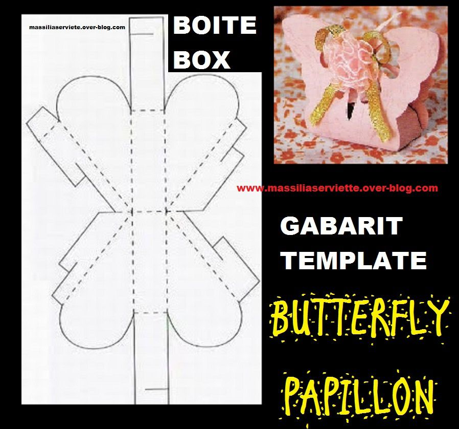 boite box papipllon butterfly template gabarit stamping mariage wedding scrapbooking