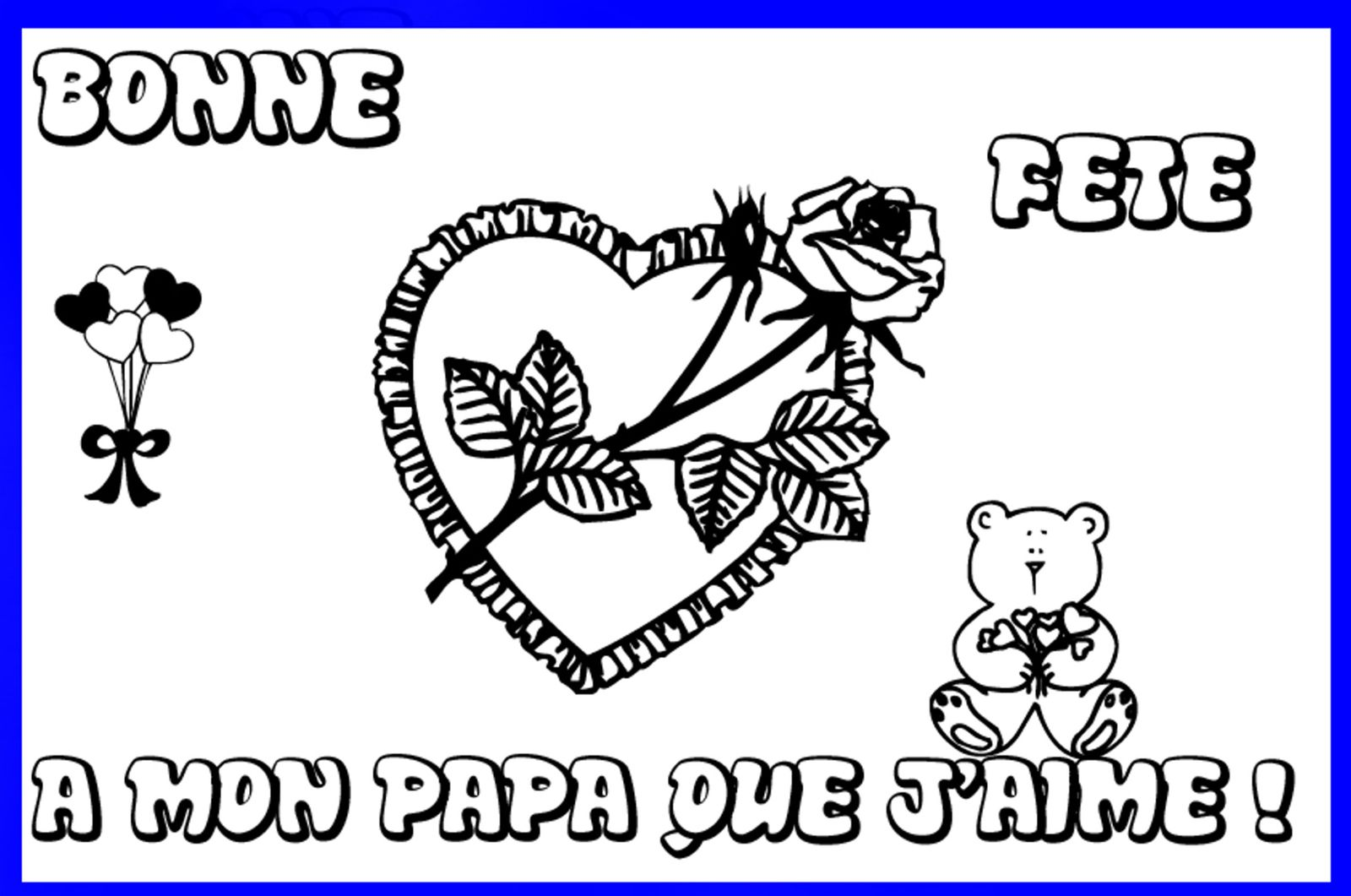 fªtes m¨res PAPA FATHER p¨re coloriage po¨me carte enfant bonne fªte ange elfes fée maman carte card po¨me