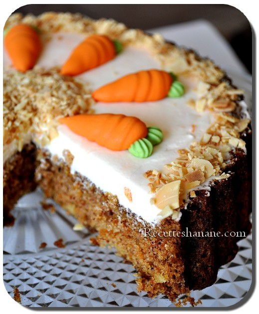 carrot cake g teau aux carottes recettes by hanane. Black Bedroom Furniture Sets. Home Design Ideas