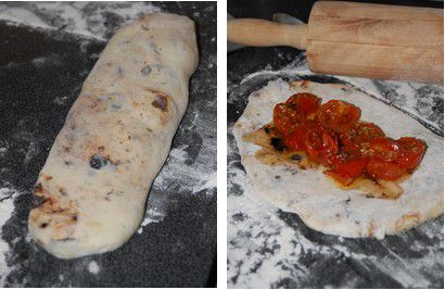 recette,fougasse,tomate,sechee