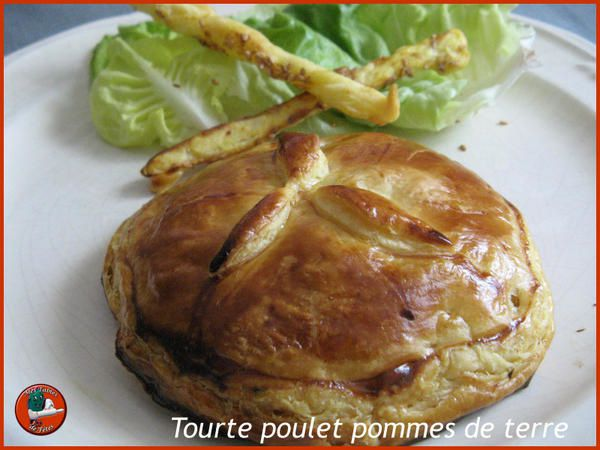 tourte poulet pommes de terre la cuisine des restes paperblog. Black Bedroom Furniture Sets. Home Design Ideas