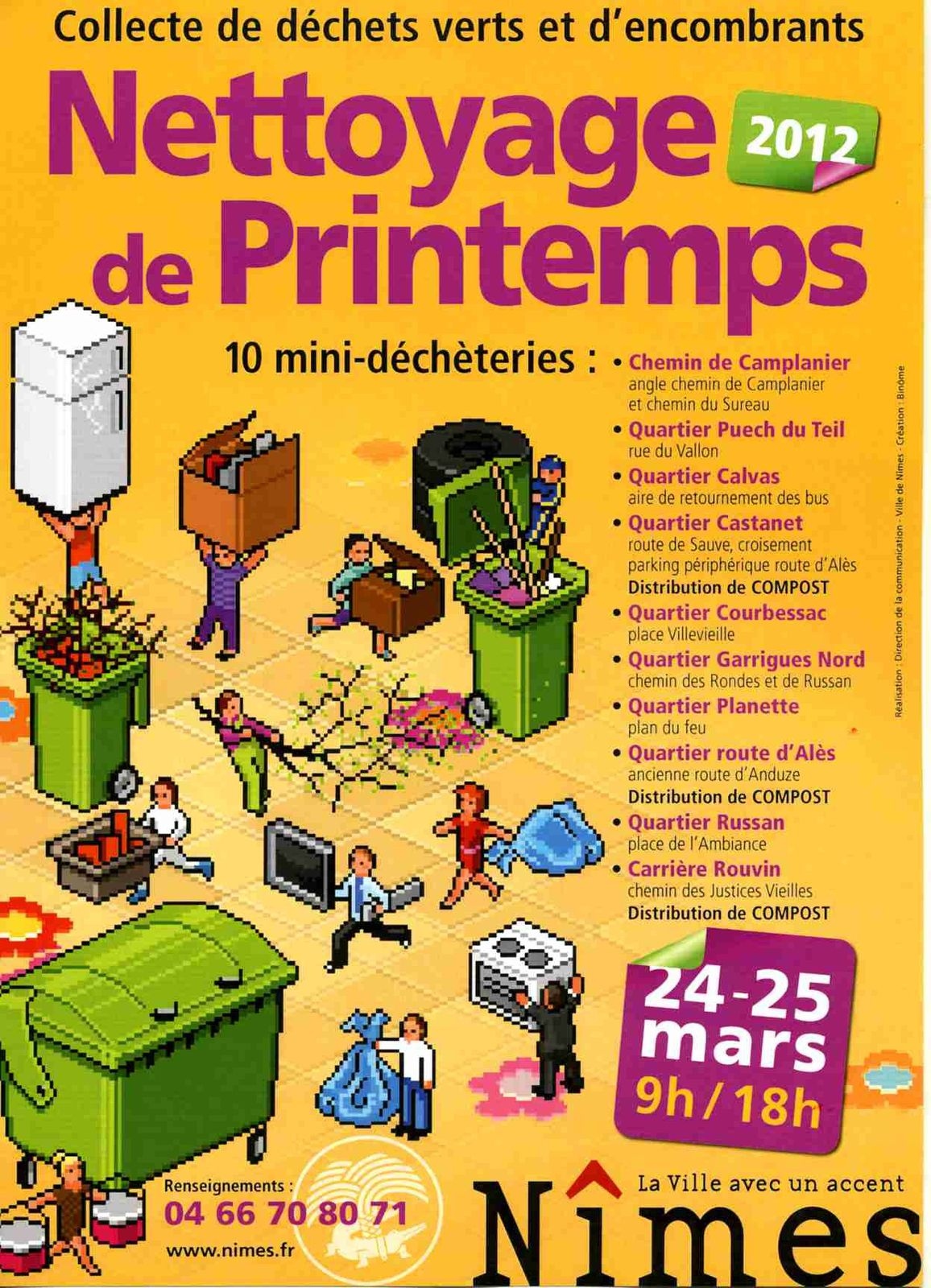 nettoyage de printemps n mes 24 et 25 mars 2012 le blog du comit de quartier de villeverte. Black Bedroom Furniture Sets. Home Design Ideas