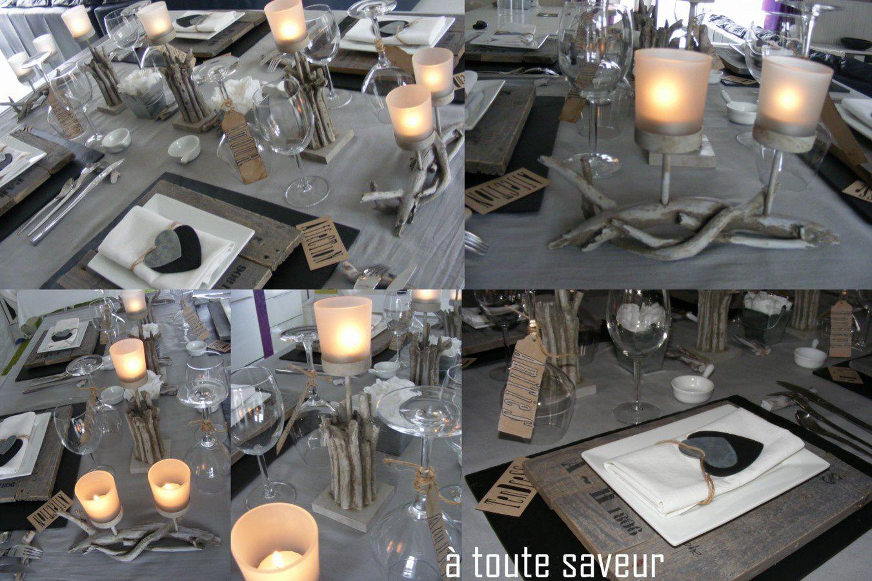 Album table bois brut ardoise et zinc toute saveur for Deco cuisine zinc