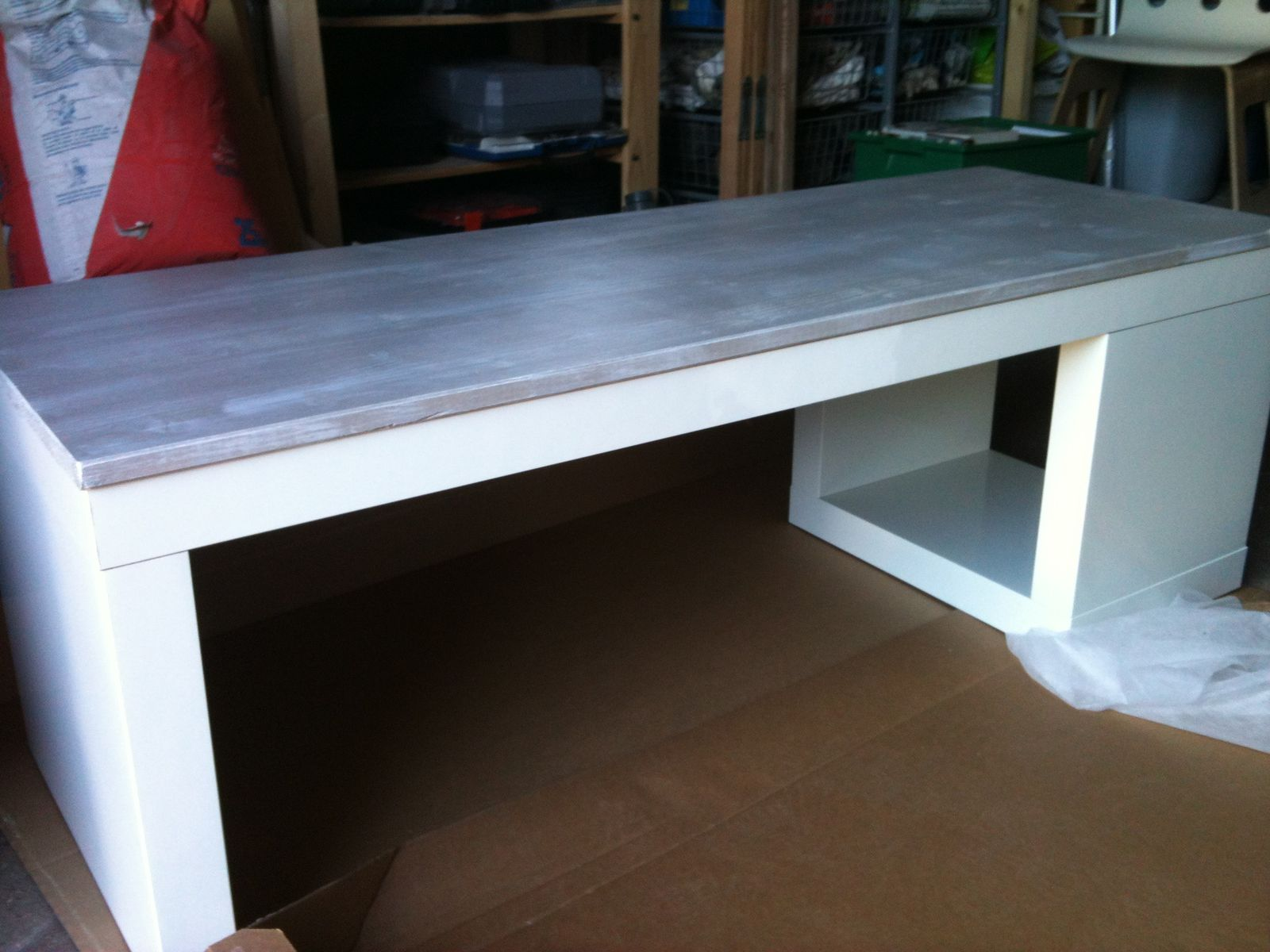 Album relookage table lack ik a en meuble tv kakinou cr ation - Personnaliser table basse ikea ...