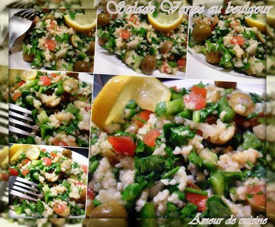 salade variee au boulghour