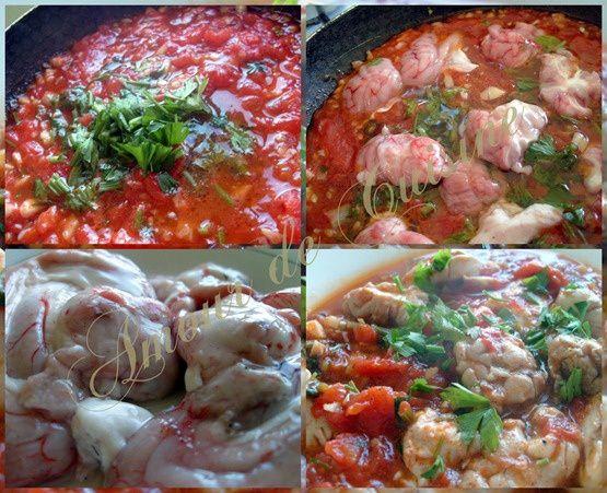 cervelle de mouton en sauce tomate