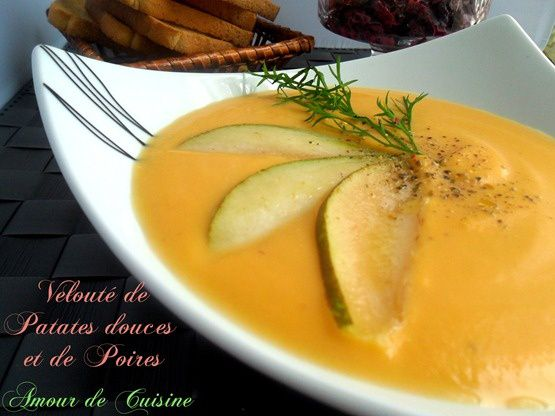 soupe patate douce et poires 005