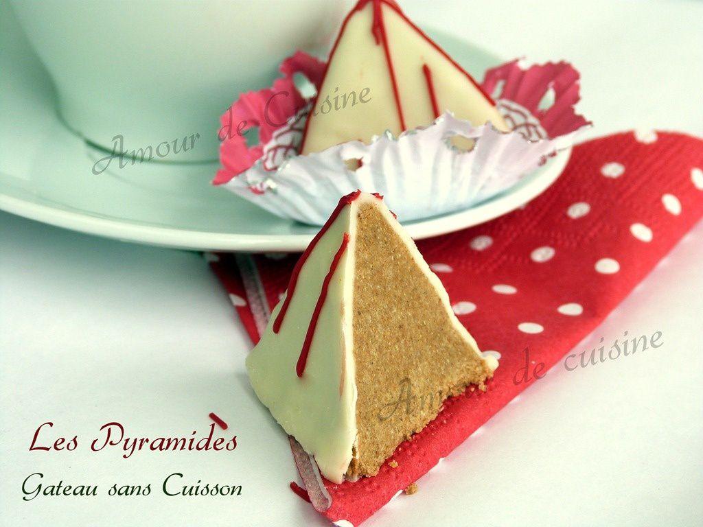Gateau sans cuisson les pyramides amour de cuisine - Gateau chocolat sans cuisson ...