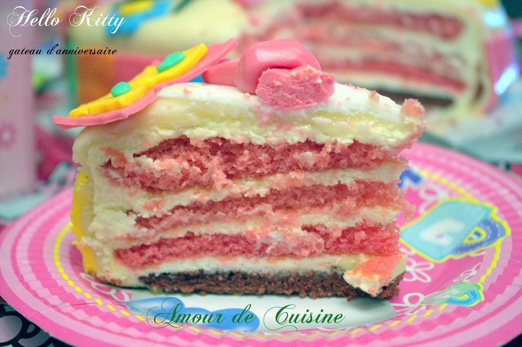 Pin Gateau Anniversaire Hello Kitty Blog Amour Cuisine Algerienne On Pinterest