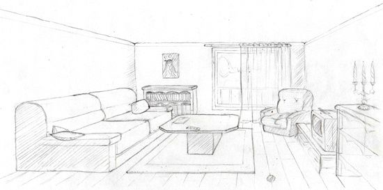 Perspective Dessin Salon : Emejing salon moderne en perspective gallery awesome