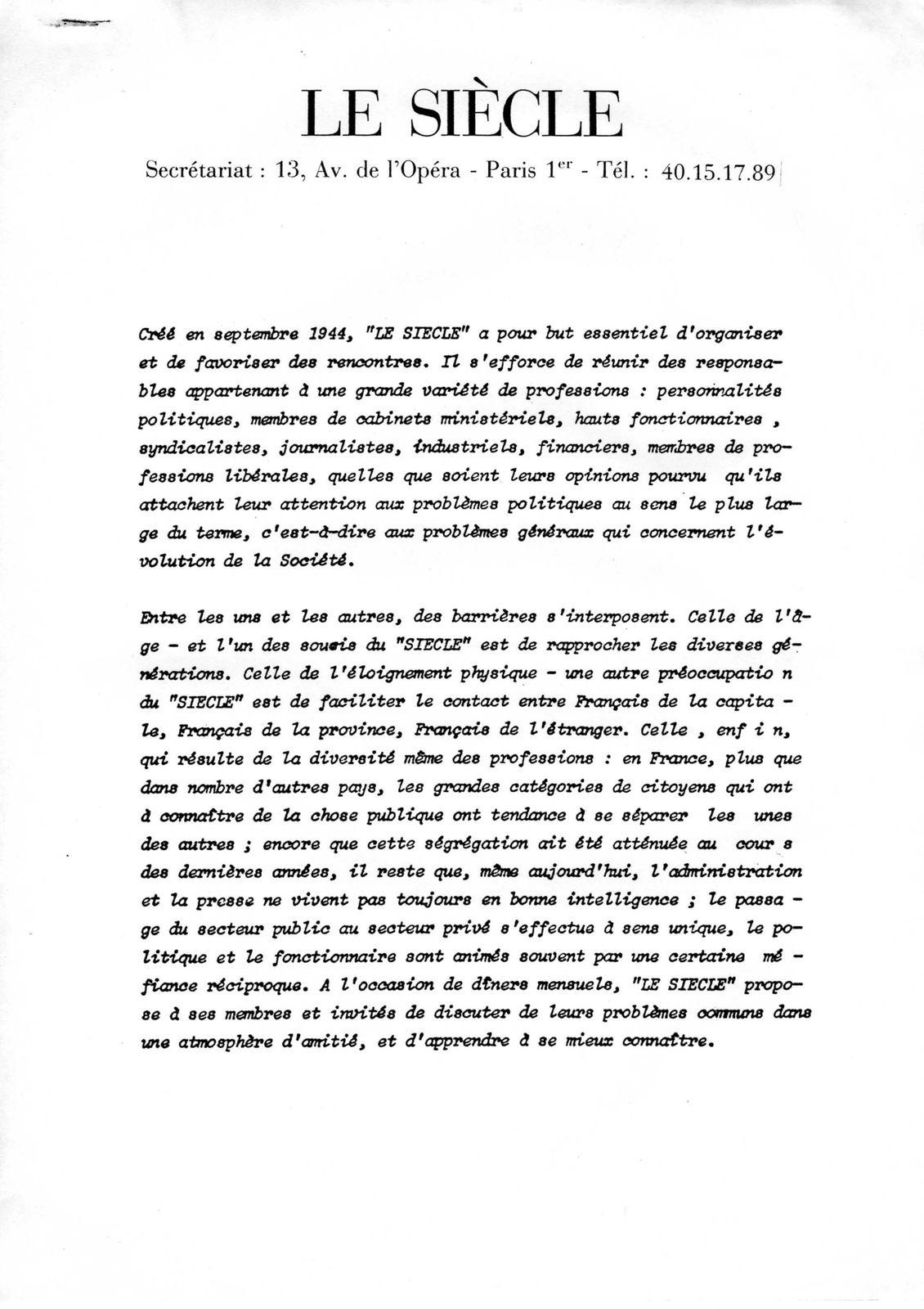Le Siecle - 001