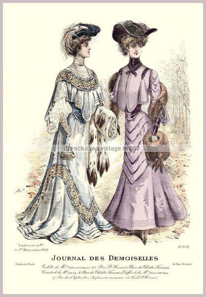 Assez Robes , chapeaux et manchons :mode à Paris en 1903 - Femmes en 1900 YT78
