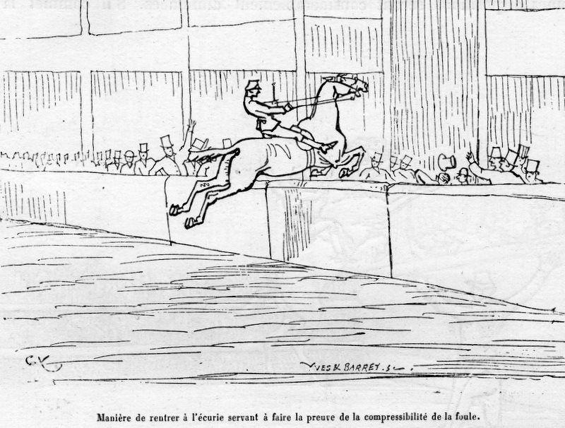 """Collection de dessins en lien avec l'article """"Concours hippique par Anatole France croqué par Grafty"""""""