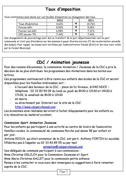 Courcerault infos n°6 p.3