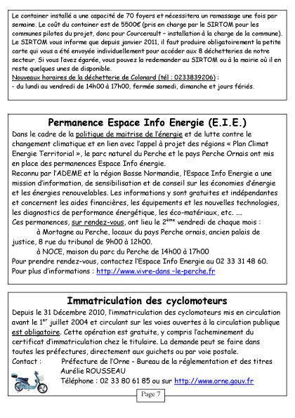 Courcerault infos n°6 p.7
