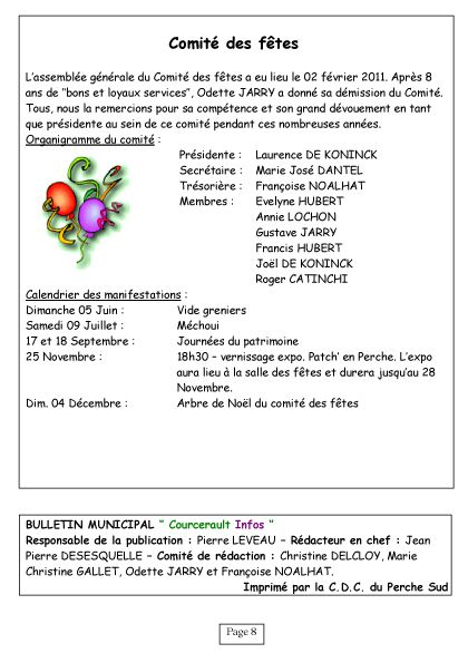 Courcerault infos n°6 p.8