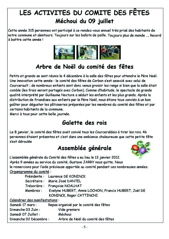 COURCERAULT INFOS N° 7 p5