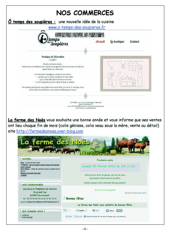 COURCERAULT INFOS N° 7 p6