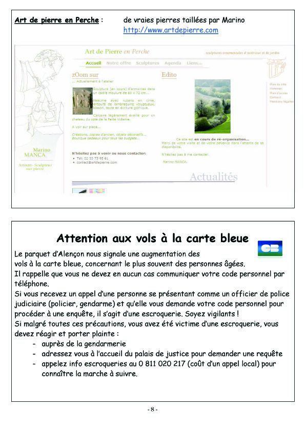 COURCERAULT INFOS N° 7 p8