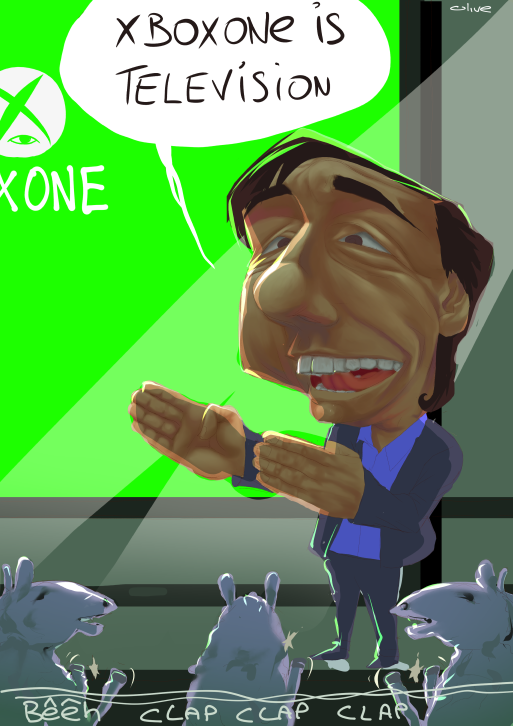 xbox one conférence caricature E3
