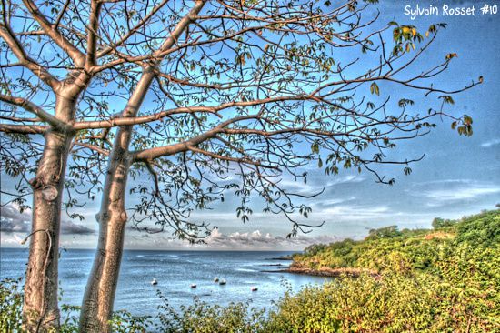 Paysage de la côte de Mayotte, photo HDR