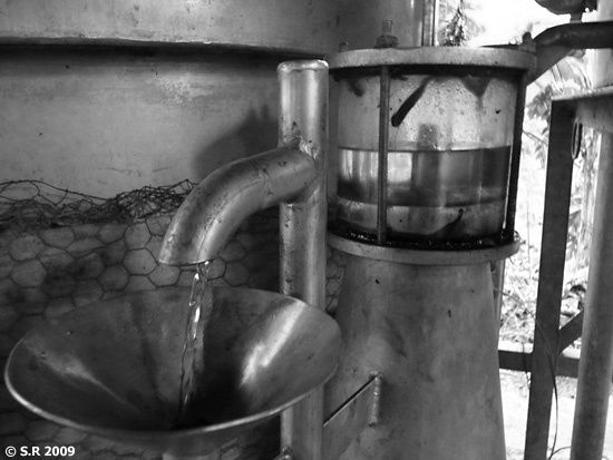 Fin de la distillation