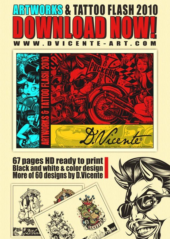 Artworks& Tattoo Flash Pub 570