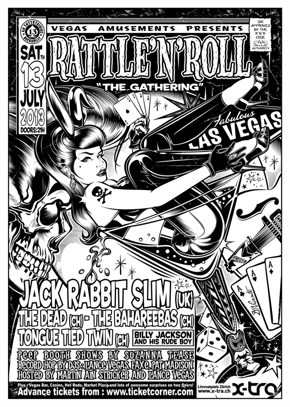 Rattle'n'roll - The Gathering Poster bw def
