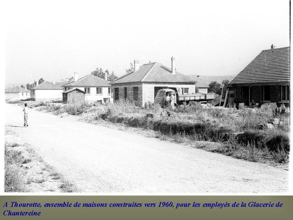 Album - Chantereine, la construction de lotissements et de maisons individuelles pour le personnel de la Glacerie
