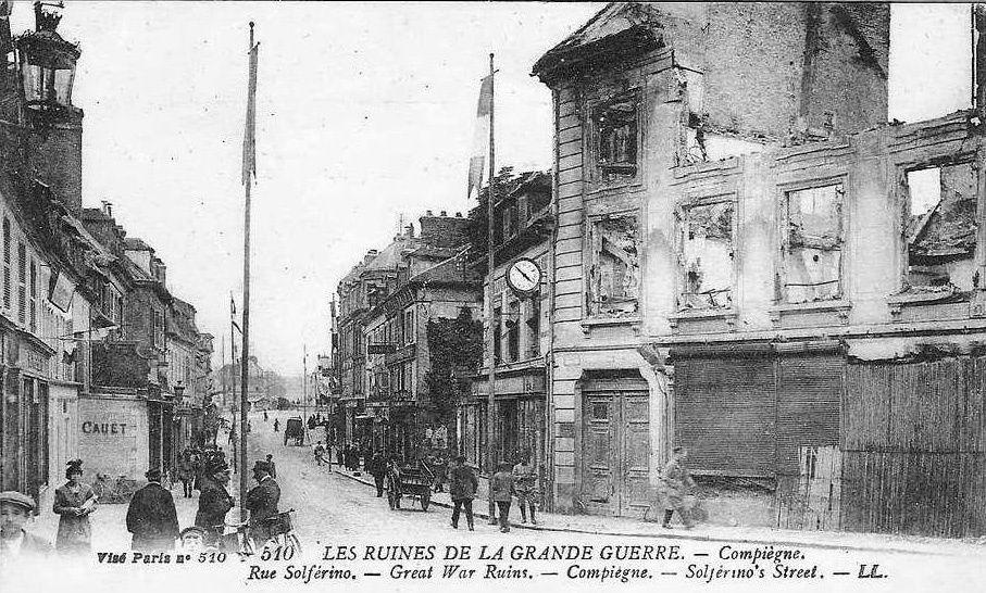 Album - la ville de Compiegne (Oise), les destructions des Guerres, les rues