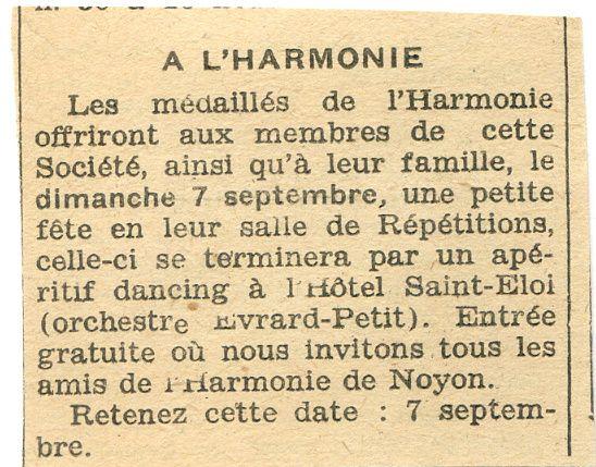 Album - la ville de Noyon (Oise), l'orchestre d''harmonie, les médaillés