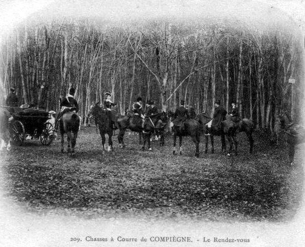 Album - la ville de Compiégne (Oise), la chasse à courre, les lieux de rendez-vous