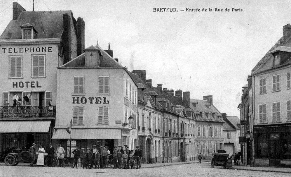 Album - la ville de Breteuil (Oise), les rues, la gare, les places, les commerces