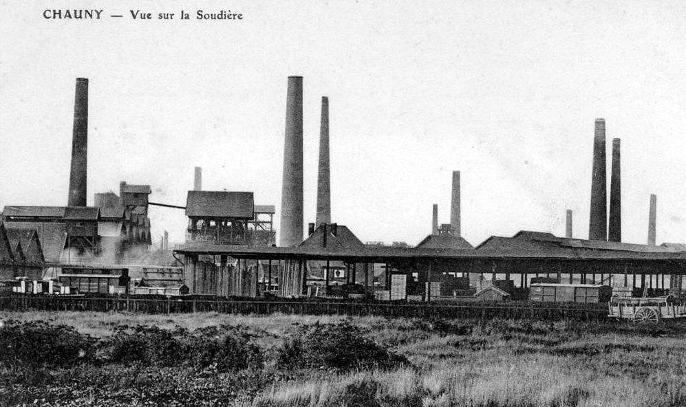 Album - la ville de Chauny (Aisne), la manufacture des Glaces (Saint-Gobain), la soudiére (Saint-Gobain)
