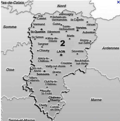 Album - la ville de Chauny (Aisne), les églises, la poste, l'hopital