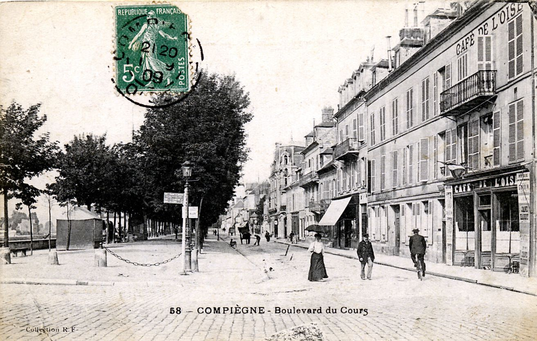 Album - la ville de Compiegne (Oise), le boulevard du Cours