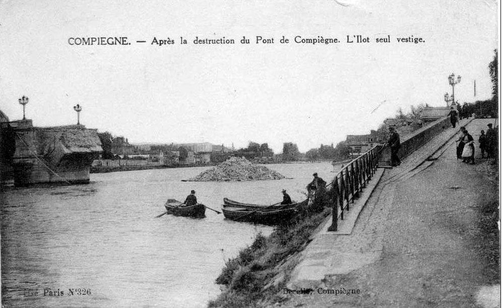 Album - la ville de Compiegne (Oise), les destructions des Guerres, les ponts