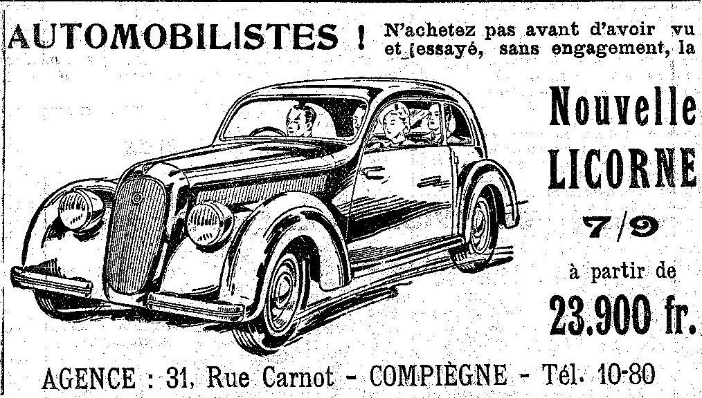Album - la ville de Compiegne (Oise), les commercants commençant par la lettre A jusqu'a B