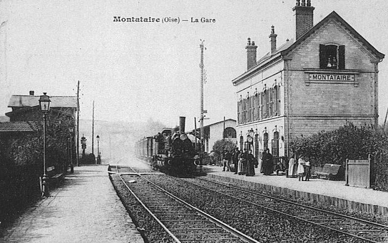 Album - la ville de Montataire (Oise), la gare et les rues