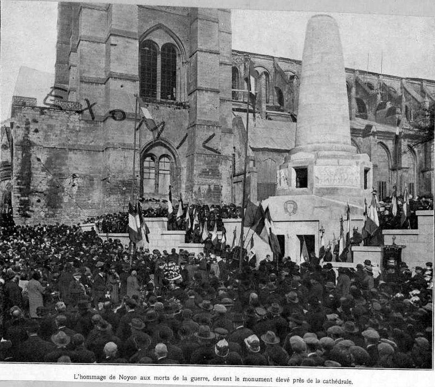 Album - la ville de Noyon (Oise), diverses photos de la guerre