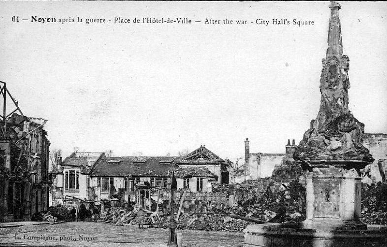 Album - la ville de Noyon (Oise), les destructions des Guerres, les places