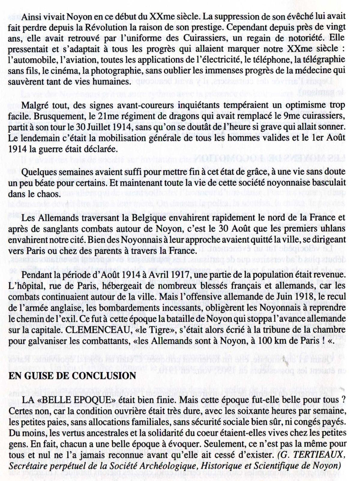 Album - la ville de Noyon (Oise), son Histoire de 1900 à 1950 (chapitres 1 et 2)