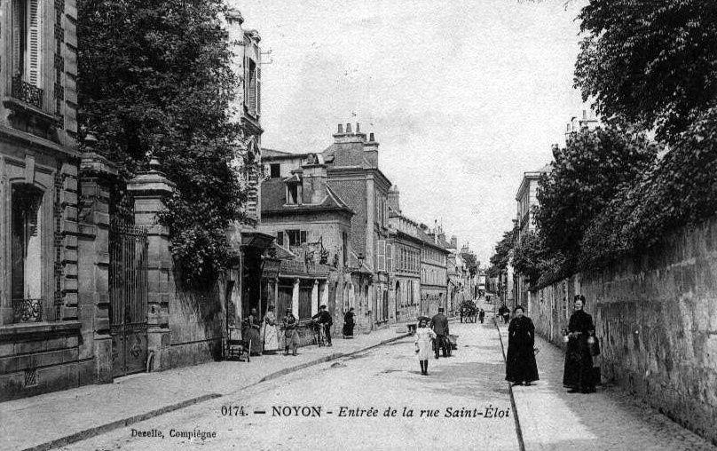 Album - la ville de Noyon (Oise), la rue de Saint-Eloi